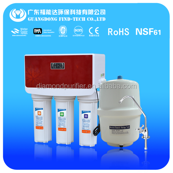 RO330D home use RO water filter with pressure gauge, frame