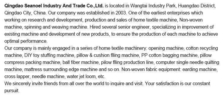 Tikar Coir Non-tenun, Jarum Pembuat Produksi Punching Crosse Garis Mesin Lapper