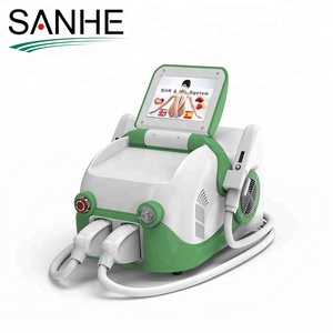 Vertical IPL +RF beauty equipment fast Elos SHR opt fast hair removal machine