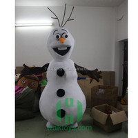 HI CE Lovely Smile Face White Snowman Mascot Costumes