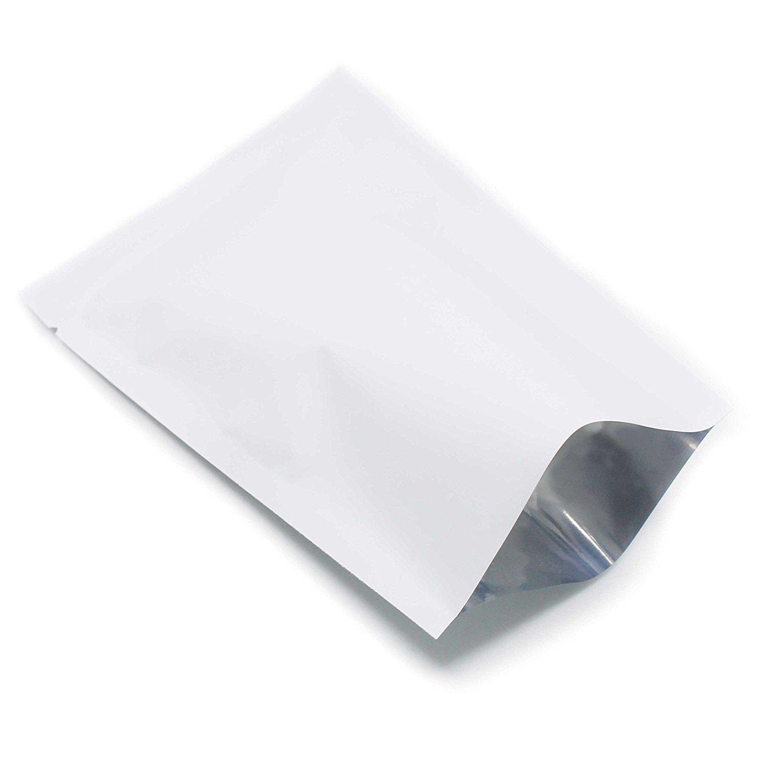 8x12cm Open Top Pure Aluminum Foil Mylar Bag Vacuum Seal Storage Pack Food Pouch Material Handling Open-top Plastic Bags