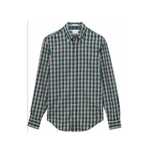 Good quality latest shirt designs for mens fashion 100 cotton check and stripe long sleeve shirt