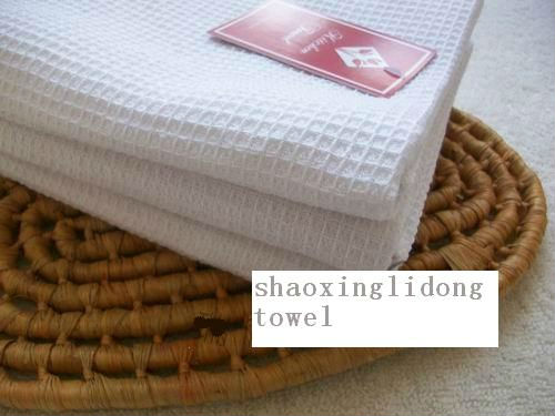 100 cotton pure white waffle weave kitchen towels