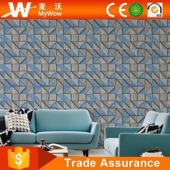 2017 Guangzhou PVC Washable 106m 3D Wallpaper Suppliers For Home Decoration
