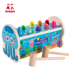 New arrival baby educational play pounding game sea animal wooden hammer toy for kids