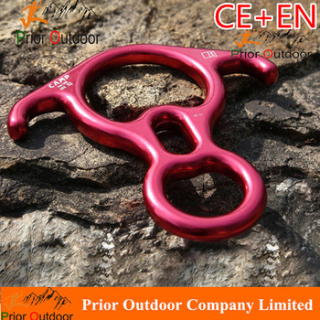 Drop Device Climbing Products EAR Figure Eight fall arrester 32KN Climbing Figure 8 Descender