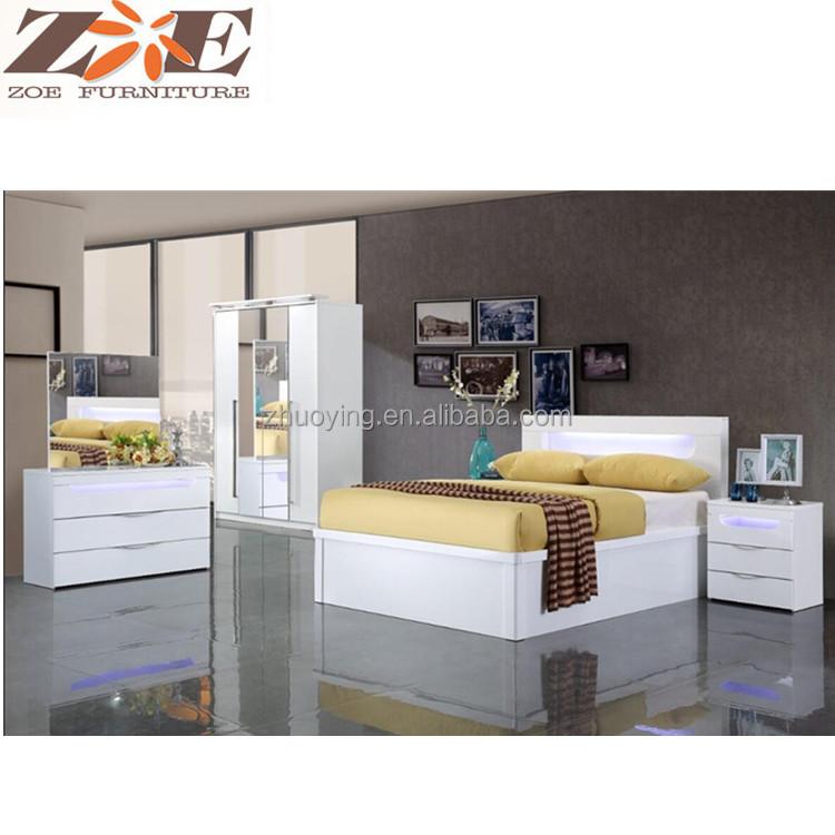 MDF muebles de dormitorio blanco últimos diseños muebles de ...