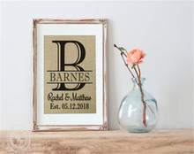 Personalized Mr and Mrs Wedding Shower Gift Wooden Picture Frame