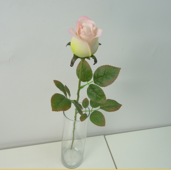 Artificial plastic rose for home decoration