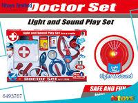 6493767 FUNNY KIDS DOCTOR SET W/LIGHT/MUSIC/2*AG13 BUTTON BATTERIES.11PCS