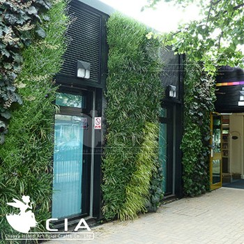 artificial greenery panels plastic plants green vertical wall