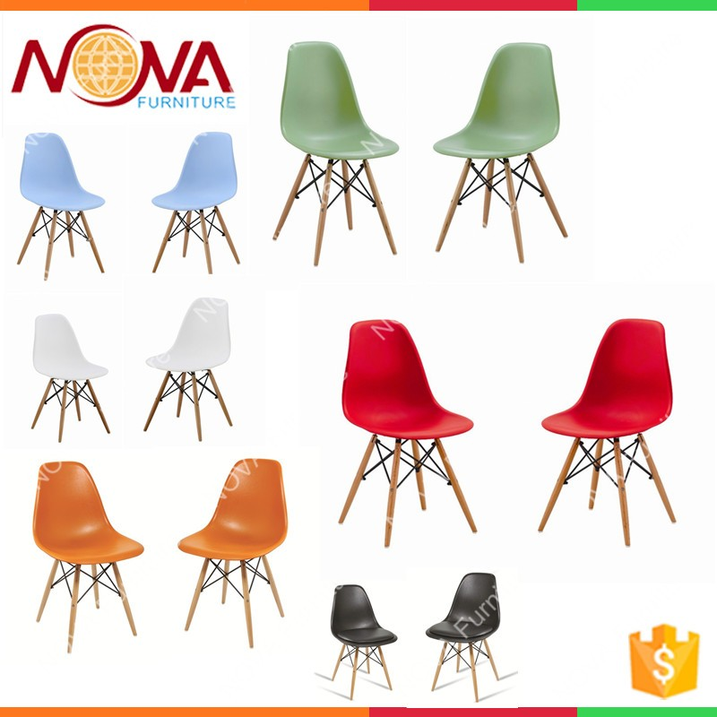Outdoor Furniture Leisure Design Garden Used Chair Cheap Best HDPE Material Plastic  Chairs With Wooden Legs