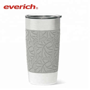 20oz Vacuum Tumbler Stainless Steel Coffee Tumbler With Silicone Sleeve By Everich