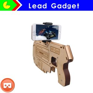 Hot Selling!! bluetooth shooting game player wood AR game gun