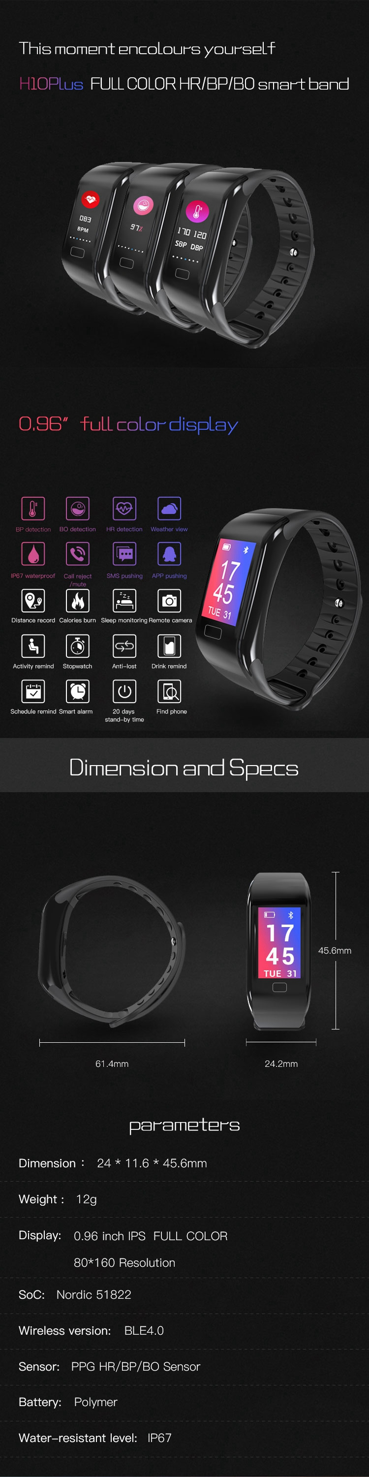 2018 shenzhen full color screen smartband with heart rate monitor .jpg