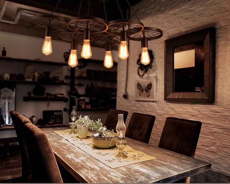 Industrial Steampunk Retro Lighting Castle Pendant Lamp /clothing ...