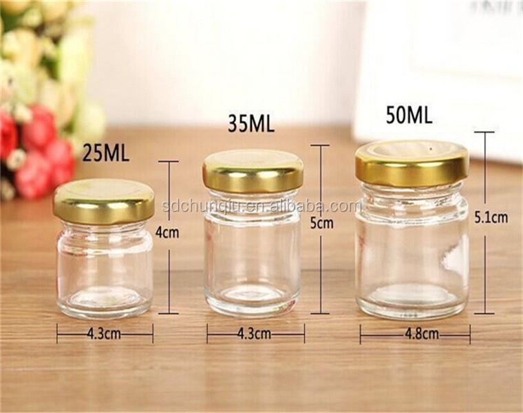 Empty 25ml 35ml 50ml 75ml 100ml Mini Glass Mason Jars For Honey Wedding Favors Shower