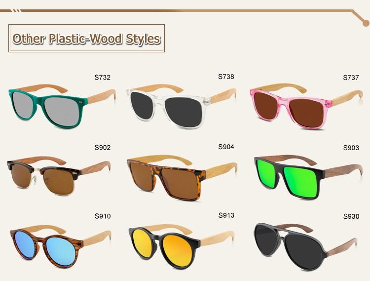 Hot Sale Street Fashion Custom Plastic Frame Wood Sunglasses For ...