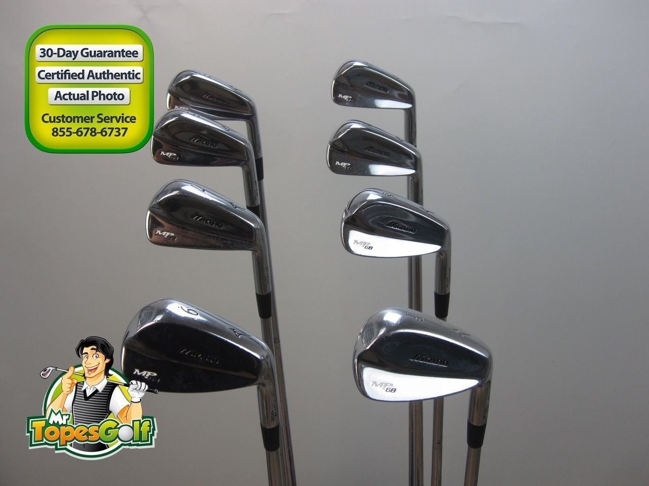 1cc741fe0c4c Get Quotations · NEW Mizuno MP-64 Forged 3-PW Irons KBS C-Taper Steel Stiff