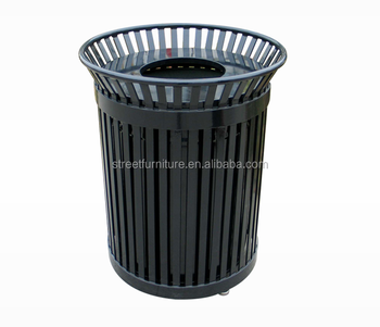 polyester powder coated 120l iron garbage bin stand street trash can buy garbage bin stand. Black Bedroom Furniture Sets. Home Design Ideas