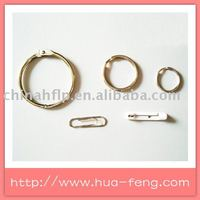 round or flat shaped plastic metal safety clip