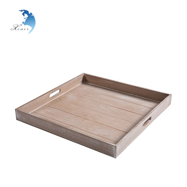 Factory Direct Sale Wood Tray hospital Food folding Dinner Tray