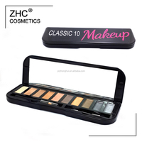CC30422 Eye Use and Dry Eye Shadow Type 10 eye shadow palette tin box packing with private label