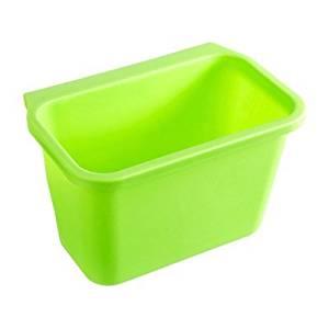 HULISEN Creative Multifuctional Plastic Kitchen Desktop Hanging Food Waste Garbage Bowl Bin Rubbish Organizer Trash Junk Box, Compost Pail Bin, Scrap Trap(3 Colors Optional) (Green)