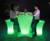 illuminated plastic furniture PE chairs colorful stool for bar