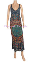 Rayon mandala dress summer dress career dress party wear dress fashion summer long dress