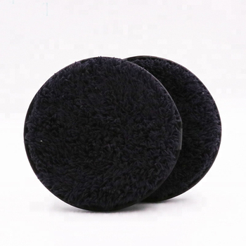 Round Chemical Free Reusable Black Makeup Remover Microfiber Cloth