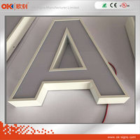 Screen out lighted signage, acrylic store decoration signs, led channel letters