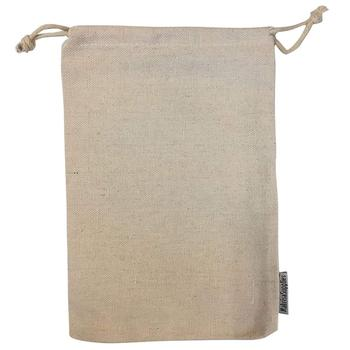 Thick Canvas Cotton Reusable Muslin Bags Double Drawstrings