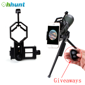 Free Shipping Ohhunt Light Weight Universal Cell Phone Camera Adapter Mount For Binocular Monocular Spotting Scope Telescope