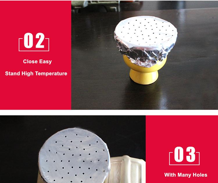 Desechables Salud de papel de aluminio de shisha/hookah de papel