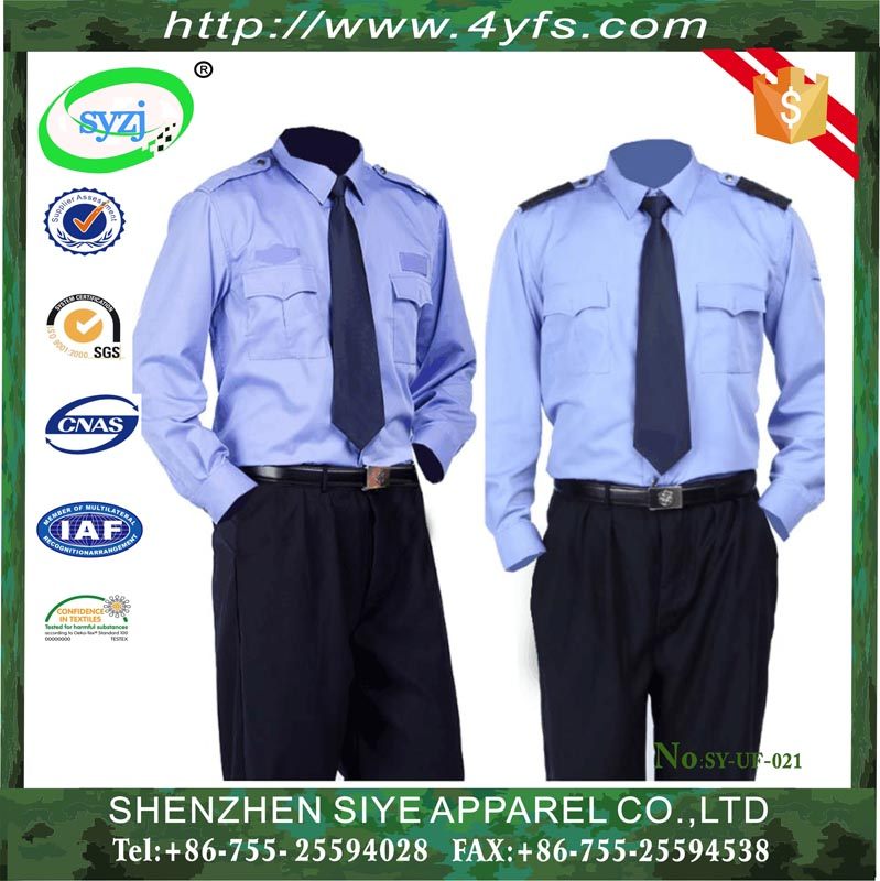 New Design Security Guard Uniform For Police