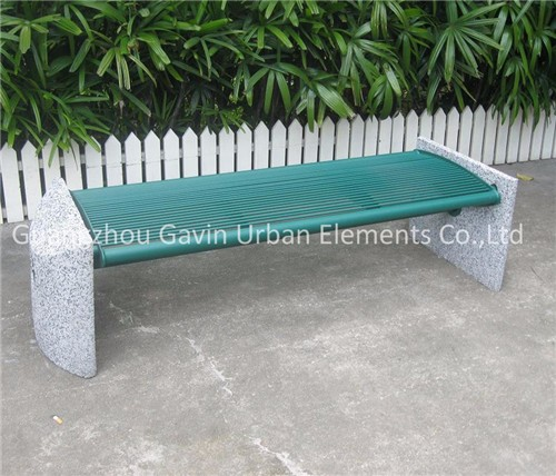 Heavy Durable Outdoor Concrete Garden Bench Metal Park Bench
