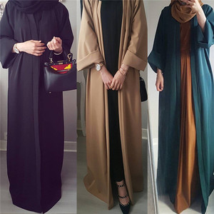 2019 Latest Design Fashion Plain Color muslim islamic clothing turkish abaya