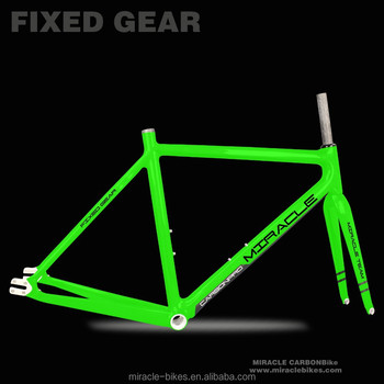 MIRACLE BIKE NEW full carbon fiber fixed frame,carbon fixed gear ...