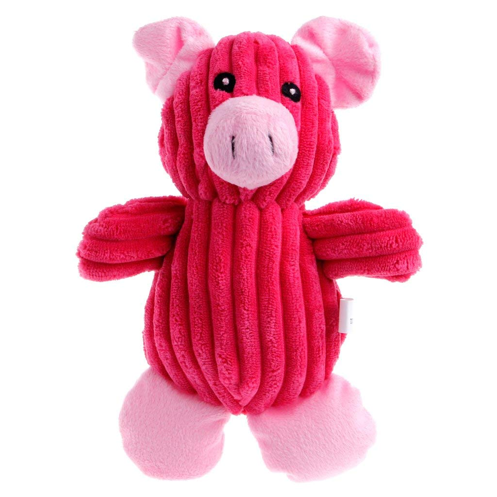 NNDA CO Pet Puggy Chew Squeaker Squeaky Chew Plush Sound Toys Pig For Dog Play Toy,Plush,Cotton Blend(pig)