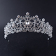 Hot sale fashion simple bridal hair accessories wedding tiara rhinestone crystal crown
