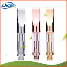 510 slim gold glass atomizer cartridge .5ml 1ml cbd oil extracted metal vape cartridge