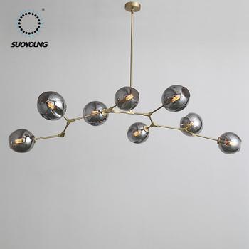 Modern Pretty Round Slender Branch Gl Chandelier Lighting Luxury Art Furniture Wedding Pendant