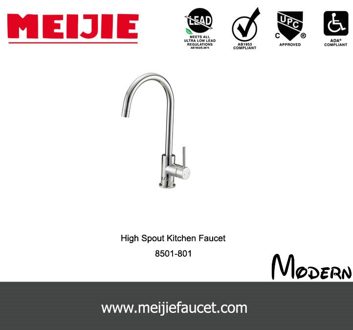 UPC Single Lever Commercial Style Kitchen Faucet with Flex Hose ...