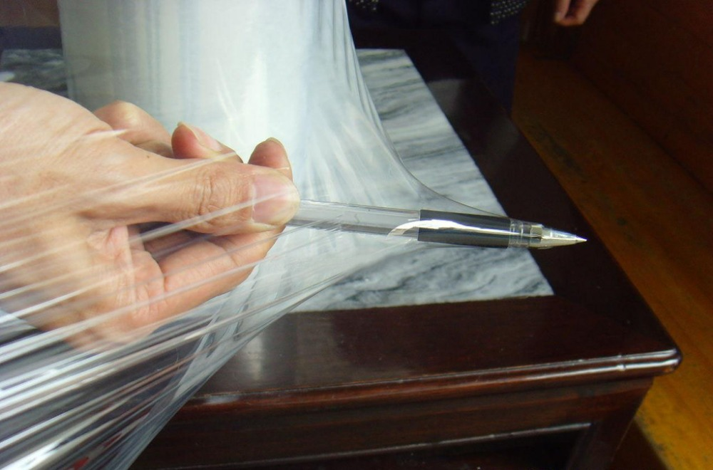 Luda supplier clear handmade PVC plastic stretch wrapping film
