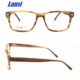 Men Eyewear Square Wood Grain Glasses Acetate Optical Frames