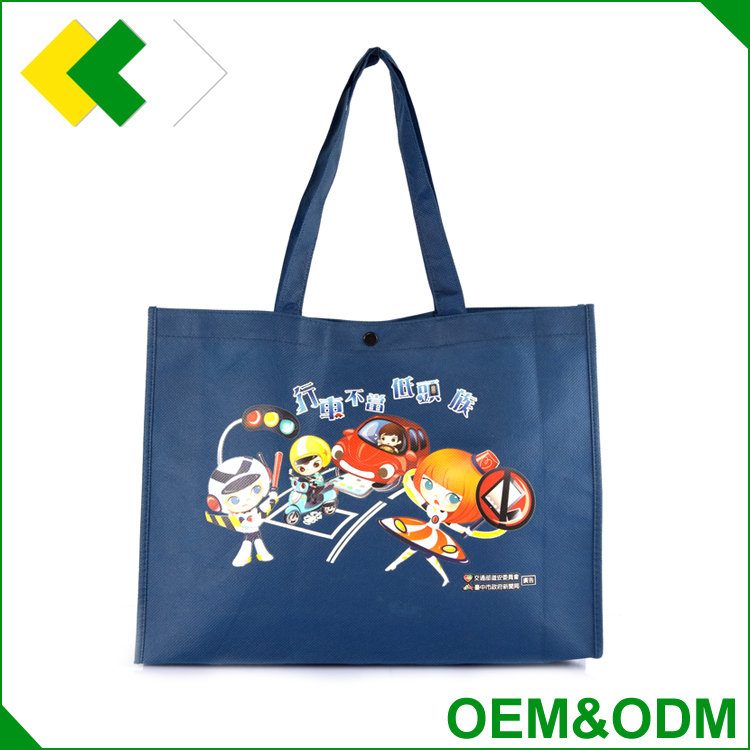 China manufacturer Durable Logo printed promotion non-woven tote shopping bag laminaied fabric foldable non woven bag guangzhou