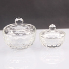 Clear crystal trinket box, crystal glass jewelry box with lid for wedding gift