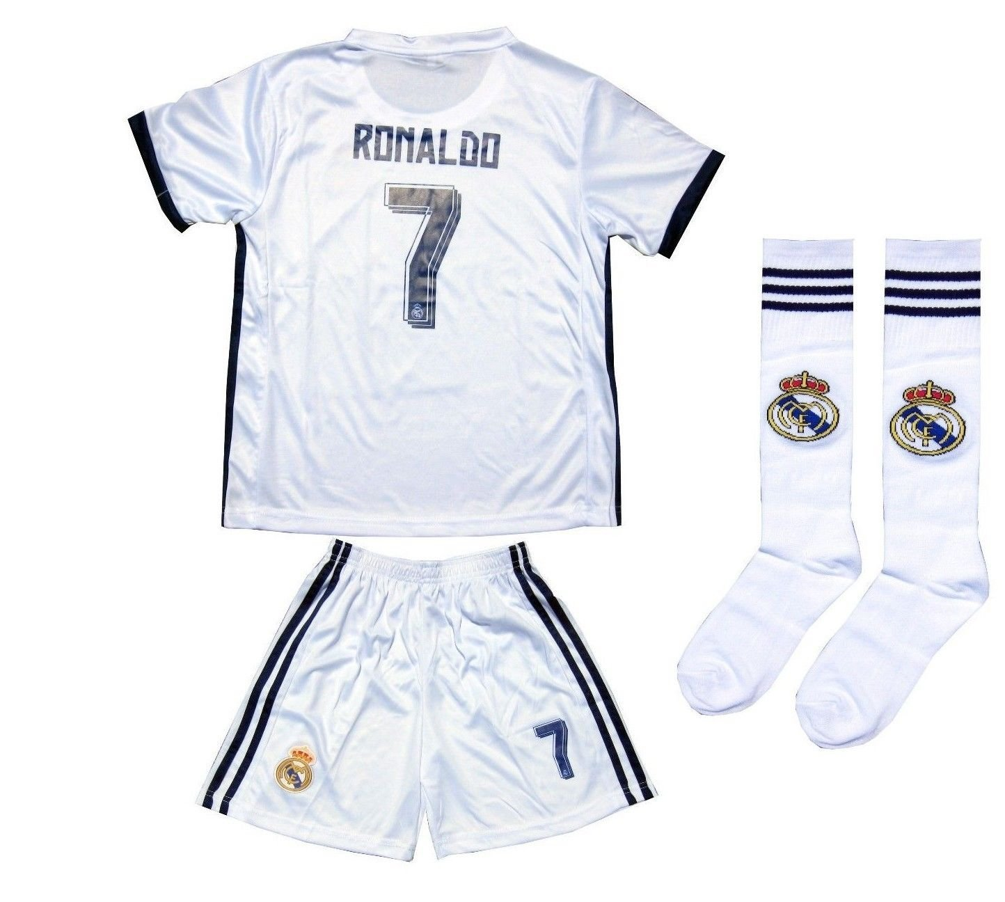 on sale e95dd 1b904 Buy 2016/2017 REAL MADRID #7 RONALDO KIDS HOME SOCCER JERSEY ...