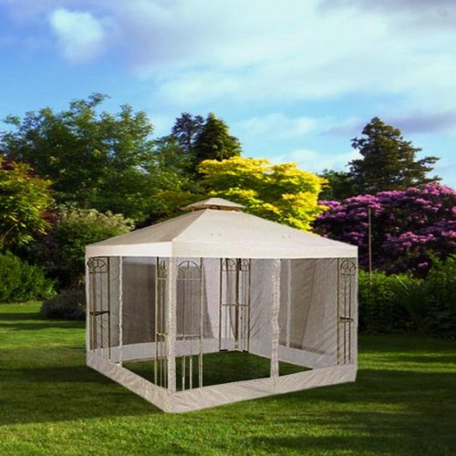 Get Quotations · 10x10 Feet/ 121x121-inch Square Ivory Poly-vinyl Garden Canopy Gazebo Replacement Top & Cheap Mosquito Net For Gazebo find Mosquito Net For Gazebo deals ...